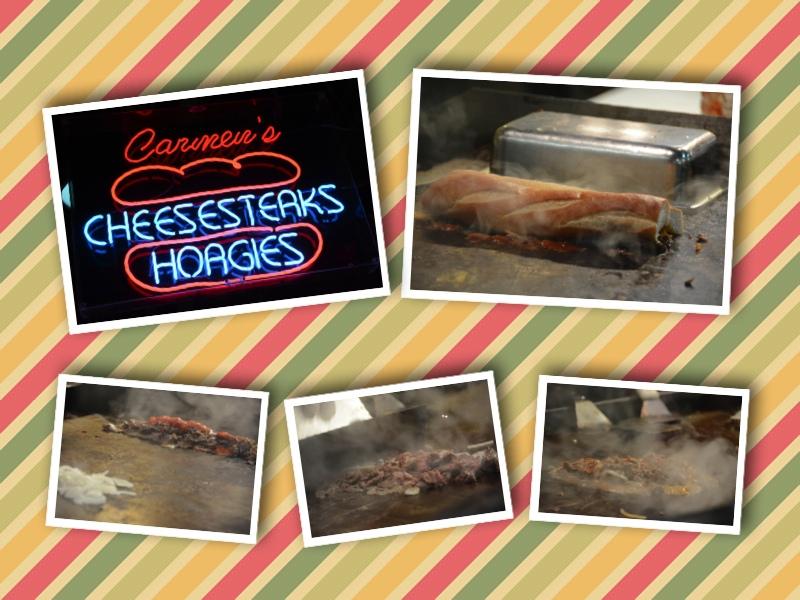 Tipico panino di Philadelphia, il cheesesteak